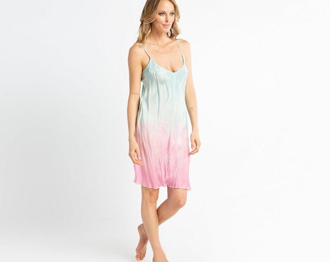 Short Tie Dye Summer Dress
