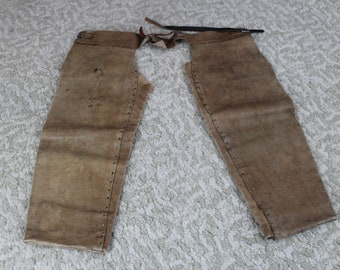 Vintage leather costume chaps