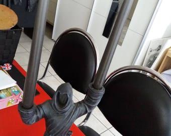 occult satanic altar ritual black taper candles