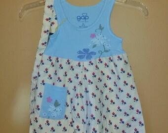 Toddler Pillowcase Dress, Easter Dress, Summer Dress, Repurposed dress, Ready to Ship