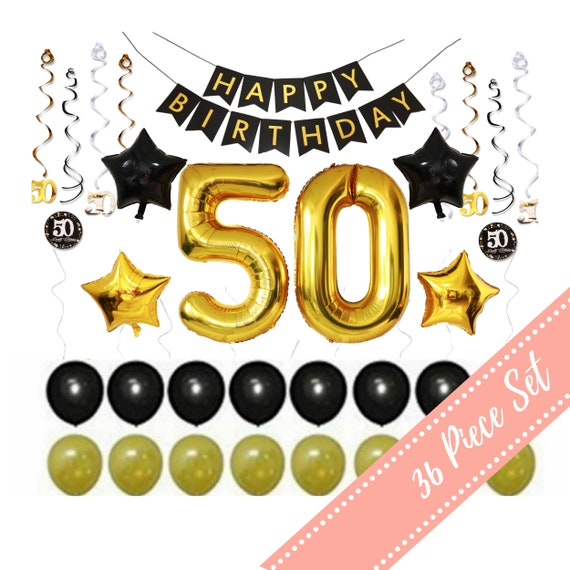 50th BIRTHDAY PARTY DECORATIONS Men For Man Woman Him Her