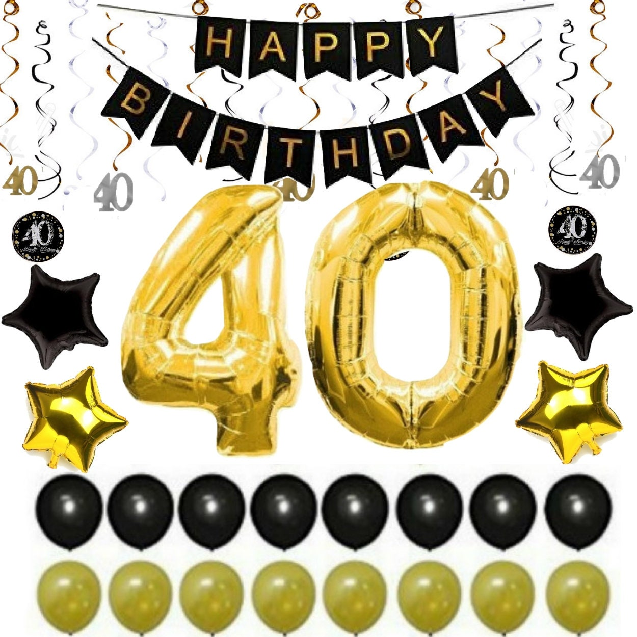 40th BIRTHDAY PARTY DECORATIONS Balloons Decor Supplies