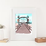 White Rock Print - Wooden Pier -  BC Canada Art  - 8x10 Print - No Writing
