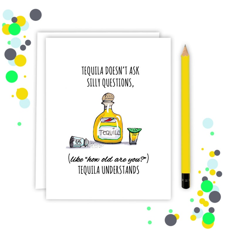 Funny Tequila Birthday Card For Best Friend image 0