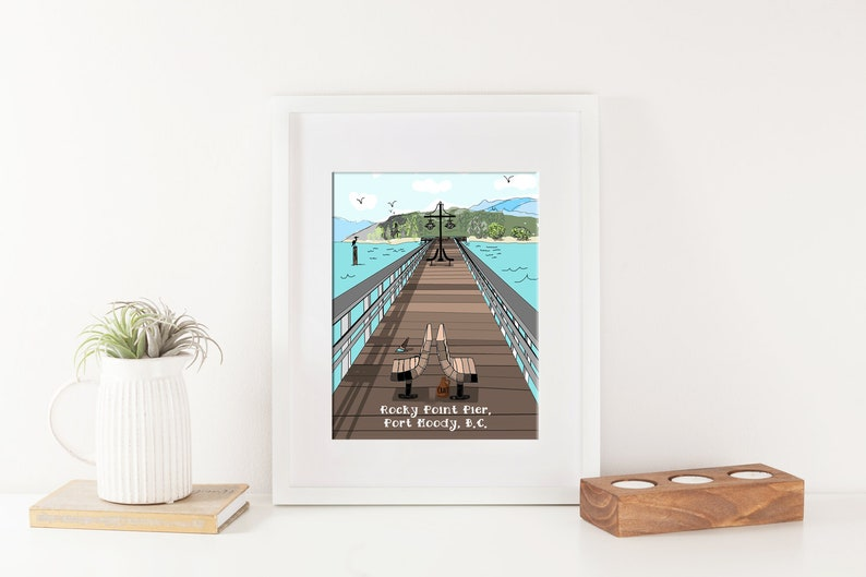 Port Moody 8x10 Print   Rocky Point Pier  Tricities Print image 0