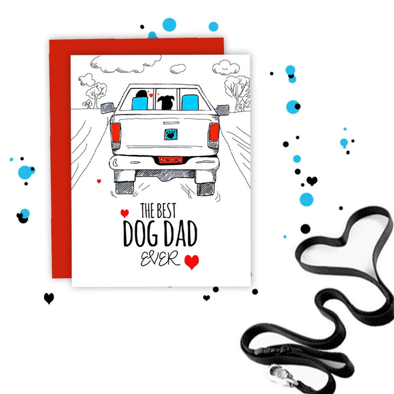 WHOLESALE  Best Dog Dad EVER  Dog Fathers Day Card From the image 0