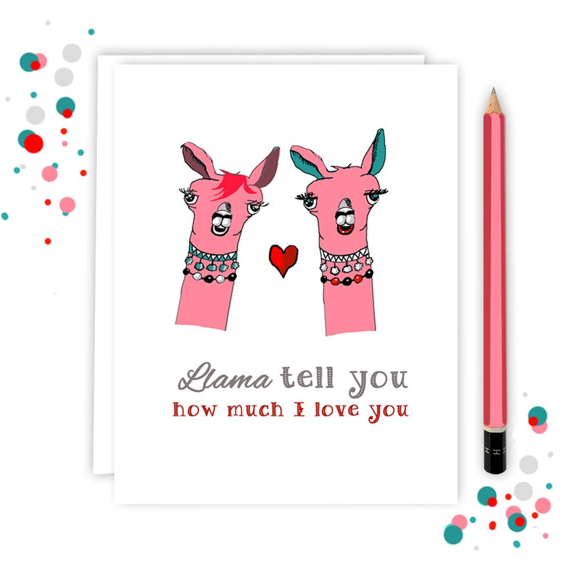 WHOLESALE  LLAMA Tell You How Much I Love You  Card for image 0