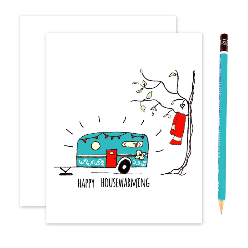 WHOLESALE Happy Housewarming Card with a  Camper   Congrats image 0