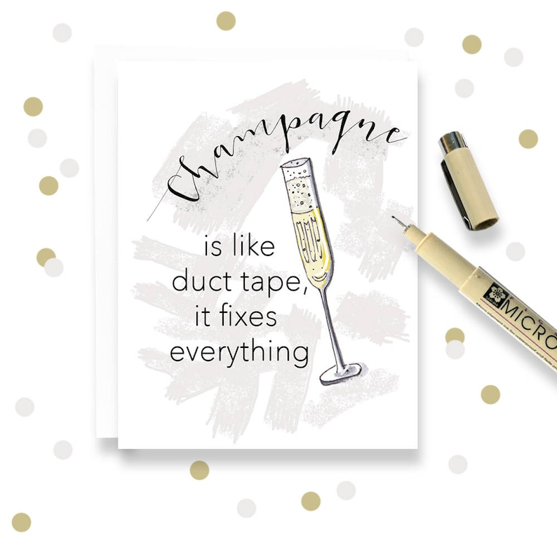 WHOLESALE  Champagne Is Like Duct Tape It Fixes Everything image 0
