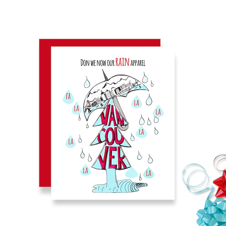 West Coast Christmas Card  Illustrated Christmas Card  Funny image 0