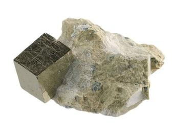 """Iron Pyrite In Limestone Matrix 1-2"""""""