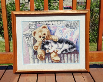 FRAMED EMBROIDERY, embroidery, embroidery art, cross stitch embroidery, vintage embroidery,nursery  decor, bedroom decor, vintage wall decor