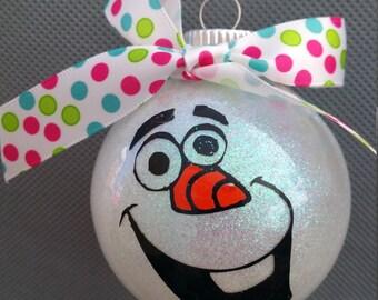 Frozen'S Olaf Glitter Ornament