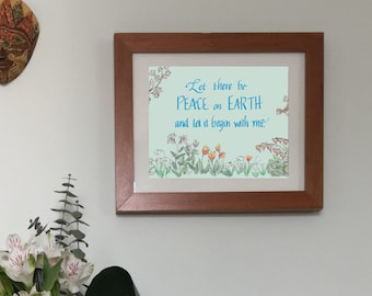 Peace Garden Frameable Print - Digital Download