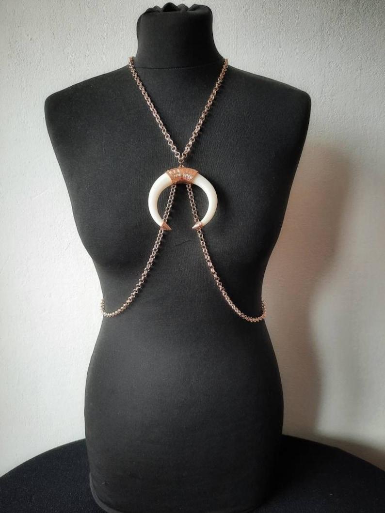 Bodychain bodynecklace body necklace harness harness image 1