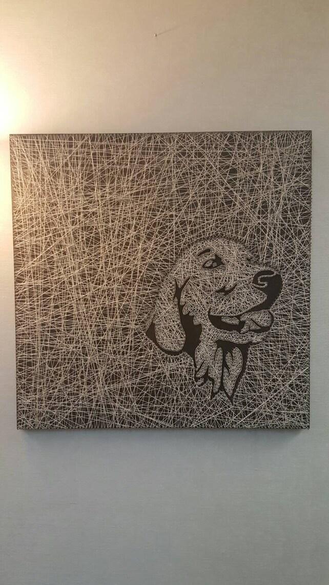 Golden Retriever String Art | Etsy
