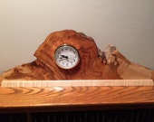 Flame Maple Burl Mantle Clock - Free US Shipping - Item 1037