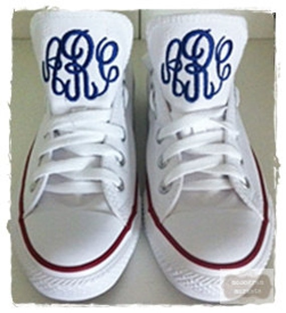 69632fa6697894 Monogram Converse BEST on ETSY