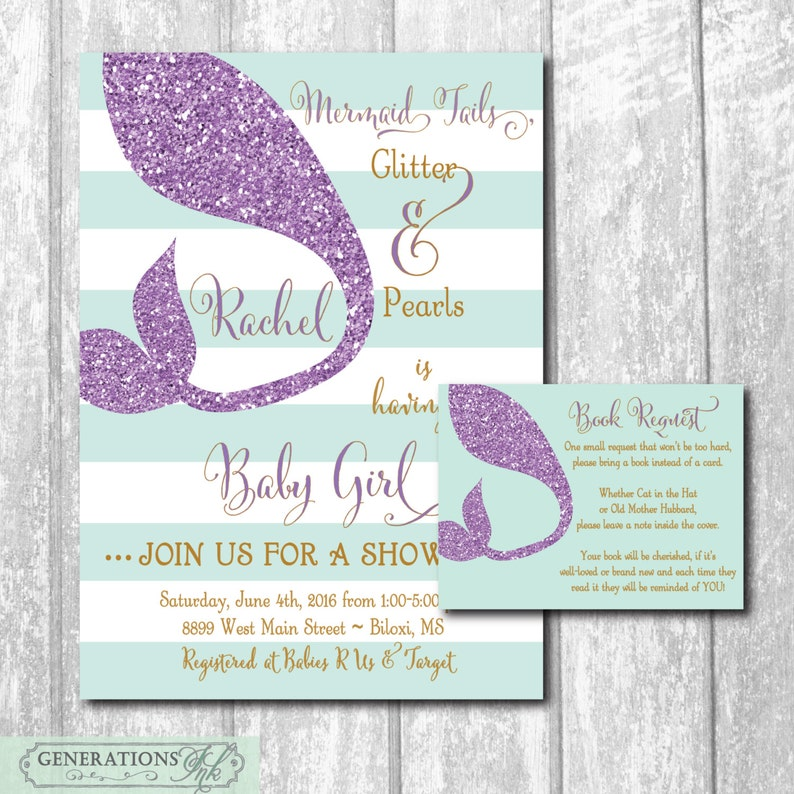 photo relating to Printable Mermaid Baby Shower Invitations named Mermaid Boy or girl Shower Invitation printable/Electronic Information/Below the Sea Shower, ebook inquire, Mermaid Shower Invitation/Wording can be improved