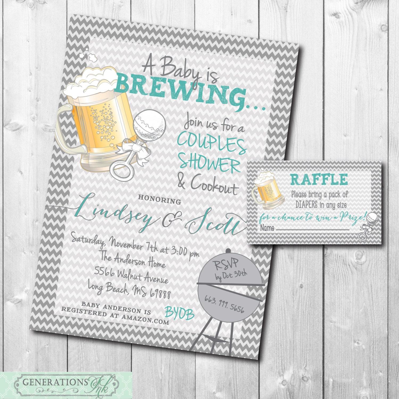 Baby is Brewing Invitation printable/Digital File/diaper | Etsy