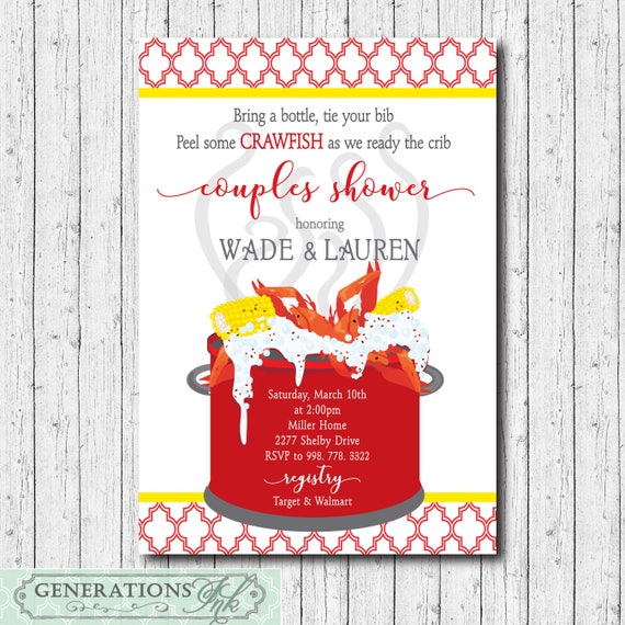 photo regarding Crawfish Boil Invitations Free Printable known as Crawfish Boil Invitation kid partners shower printable/Electronic History/seafood boil, diaper shower, commencement, birthday/Wording can be adjusted