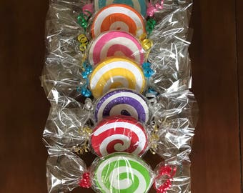 Big Candy, Birthday Party Decorations, (Set of 7) double sided.
