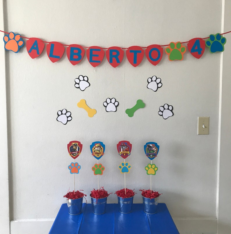 Paw Patrol Party Decoration Set.