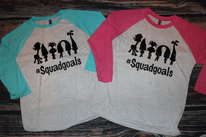 27e35ef27 Squadgoals Trolls inspired Adult or Kids Womens Tank Tops | Etsy