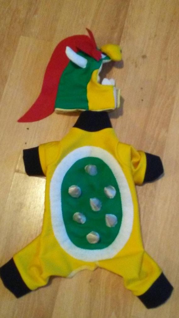 Bowser Dog Costume Bowser Mario Kart Costume Mario And Etsy