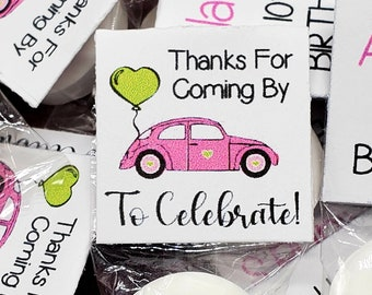 Birthday Party Theme Includes Mints 50 Personalized Baby Shower LIFESAVER Mint Favors Pink Princess Crown and Hearts