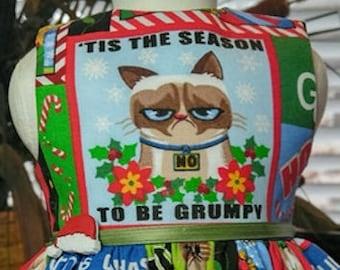 Grumpy Cat Holiday dress fits 18 inch dolls including American Girl Doll