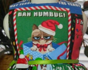 Grumpy Cat Christmas dress fits 18 inch dolls including American Girl Doll