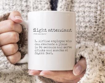 Flight Attendant Gift / Flight Attendant Mug / Gifts for Flight Attendant / Travel Mug / Traveler Gift / Wanderlust Approved