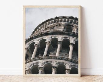 Italian Architecture / Leaning Tower / Abstract Art / Roman / Tourist Photo