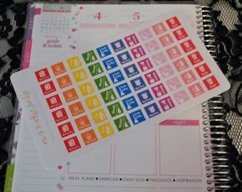 Chores Housework Cleaning Stickers for Erin Condren Life Planner Plum Paper Planner Calendar