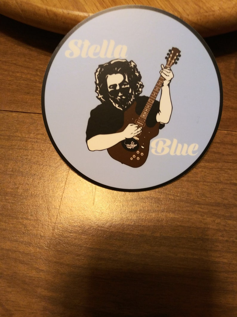 Grateful Dead Sticker. Jerry Garcia Sticker. Stella Blue image 0