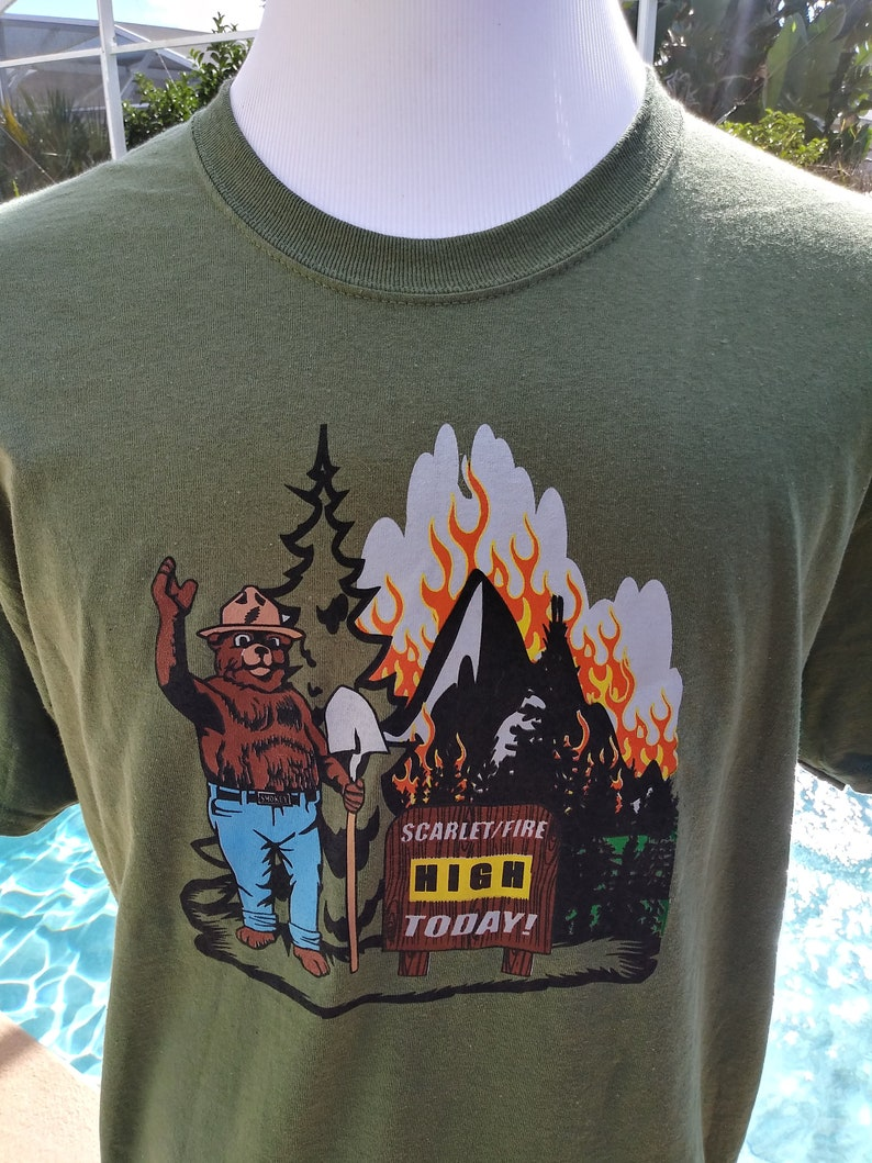 Grateful Dead Shirt-Fire on the Mountain Shirt-Scarlet image 0