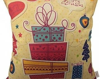 Christmas Presents on Pillow Cover 18 x 18