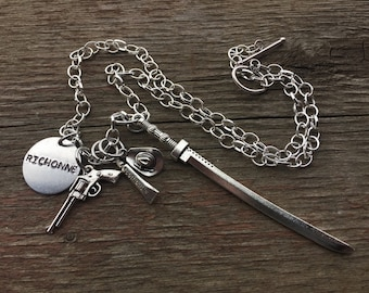 Walking Dead Inspired Richonne Charm Necklace