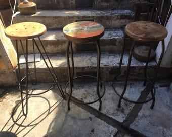Hairpin Leg Bar Stool - wood bar stools - hairpin bar stool - TOP DEAL 70USD/60EUR + SHIPPING - 3.5 - 7