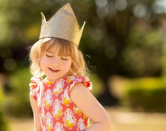 Kids party crown, Birthday crown, Gold crown, Party Hat, Princess crown, Holiday crown
