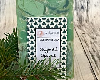 Winter Soap - Forest Soap - Sugared Spruce Soap - Homemade Soap - Small Gift - Valentines Day Gift for Him