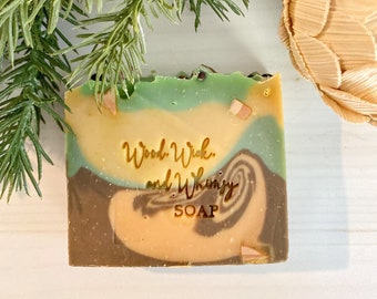 Forest Soap - Homemade Soap - Pacific Northwest Themed Soap - Mens Soap - Artisan Soap - Self Care - Fathers Day Gift - Gift for Him -