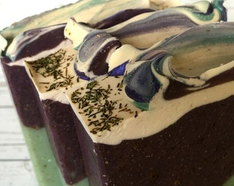 Blackberry Sage Soap - Stocking Stuffer - Homemade Soap - Artisan Soap - Cold Process Soap - Self Care -Olive Oil Soap - Made In Oregon