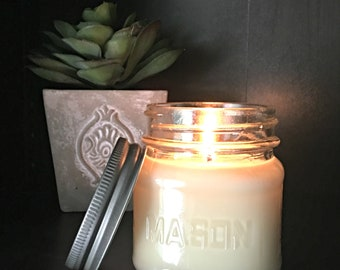 Citron and Mangosteen Candle - Soy Wax Candle - Mason Jar Candle - Scented Candle - Home Decor - Candle Gift - Summer Candle - Spa Candle