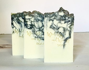 Gardenia Soap - Homemade Soap - Stocking Stuffer - Artisan Soap - Cold Process Soap - Swirl Soap Bar - Handcrafted Soap - Floral Soap