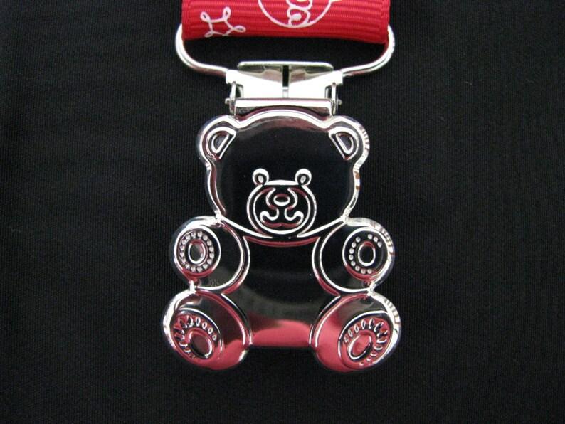 dummy pacifier clip baby unisex boy girl mouse bright teddy bear clip