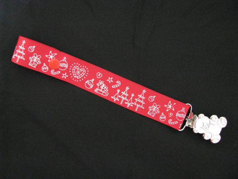 dummy pacifier clip baby unisex boy girl australia christmas teddy bear clip