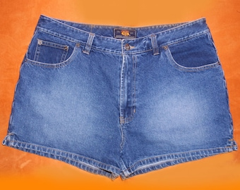 Vintage high rise Route 66 Denim Shorts