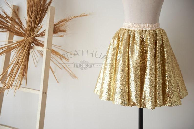 7b6713df6b Oro lentejuelas tul Champagne bebé tul falda recién nacido